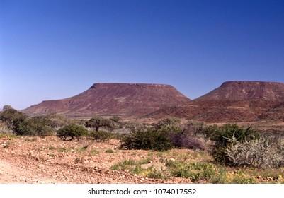 panoramic view of the kunene or kaokoland region