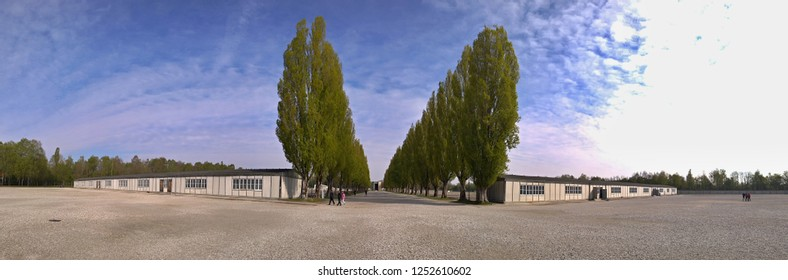 Panoramic view KZ ( concentration camp ) in Dachau - Germany