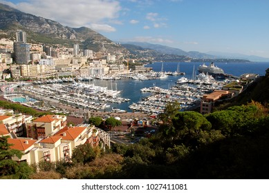 Panoramic view of La Condamine and Monte Carlo