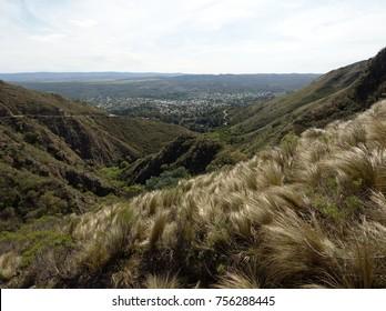 Panoramic view of La Falda from Cerro La Banderita