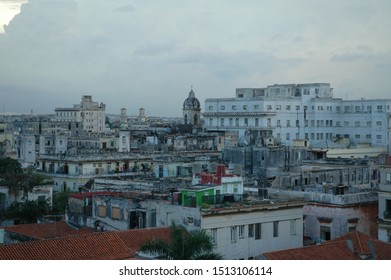 panoramic view of La Havana Cuba from tall building
