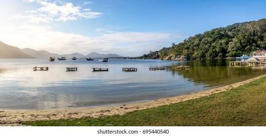 Panoramic view of Lagoa da Conceicao - Florianopolis, Santa Catarina, Brazil