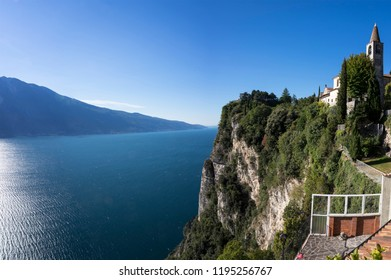 Panoramic view of Lake Garda from Tremosine