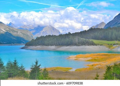 Panoramic view - Lake of San Giacomo - Alps - Italy