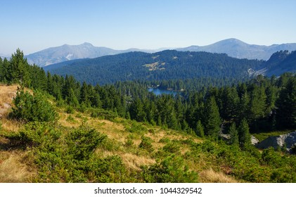 Panoramic view of landscape around Hrid Lake, Montenegro