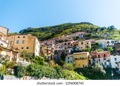 panoramic view and landscapes of Maratea, panorama of the Mediterranean countryside on the sea