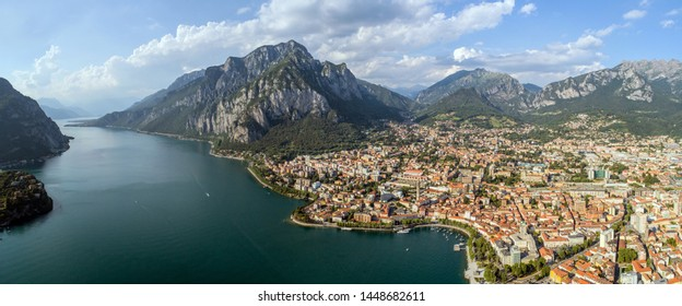 Panoramic view of Lecco city