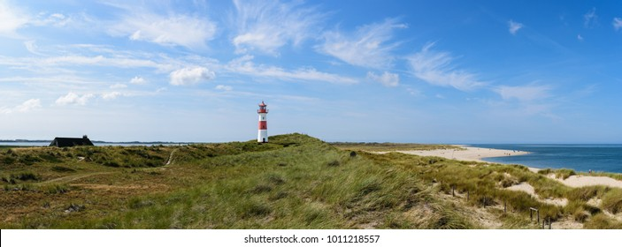 Panoramic view of the lighthouse List east on the island sylt