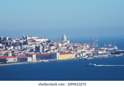 panoramic view of Lisboa capital, Portugal