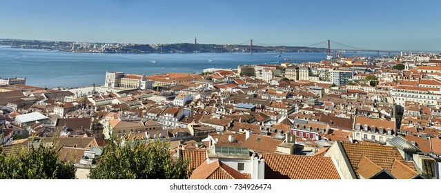 panoramic view of Lisbon from the Castle of St. George
