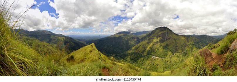 Panoramic view from Little Adam's Peak in Ella, Sri Lanka.