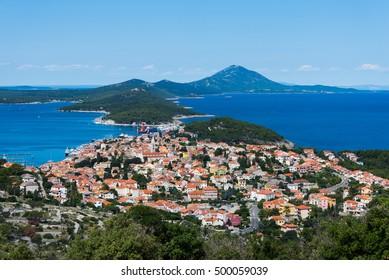 Panoramic view to the Losinj island, Croatia