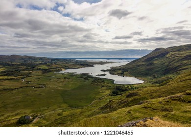 Panoramic View of Lough Na fooey, County Galway, Ireland