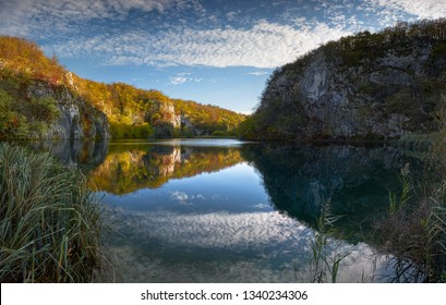 Panoramic view of lower lakes, Plitvice N.P., Croatia