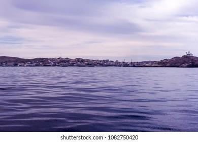 panoramic view of luderitz bay, karas, namibia, africa