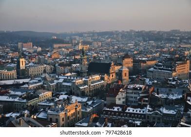 panoramic view of Lviv