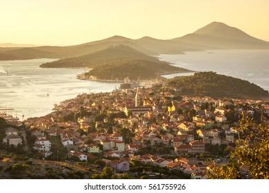 Panoramic view of Mali Losinj, Croatia
