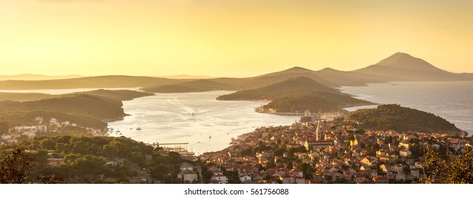 Panoramic view of Mali Losinj, Croatia