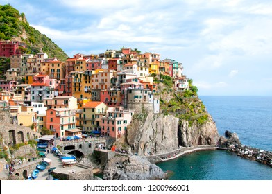 Panoramic view of Manarola village, Liguria, Italy