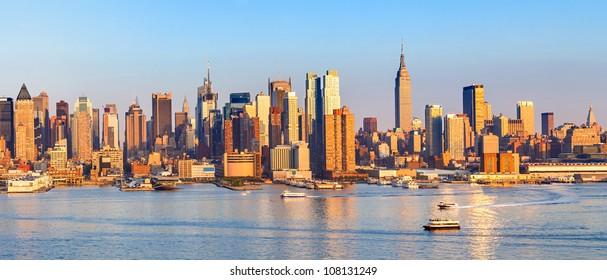 Panoramic view of Manhattan, New York