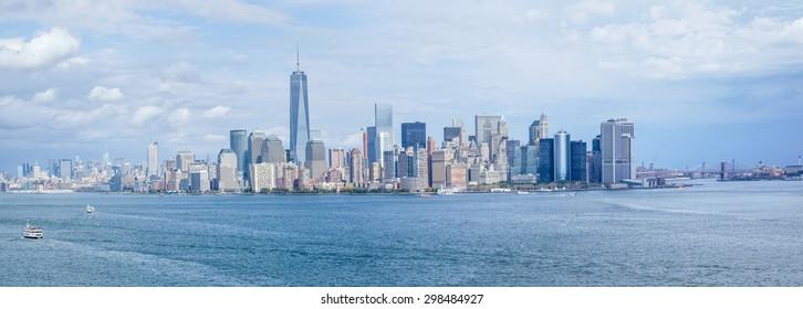 panoramic view of Manhattan, new york city skyline