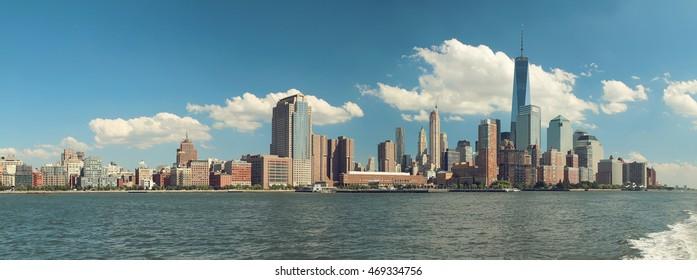 Panoramic view of Manhattan. New York. USA.