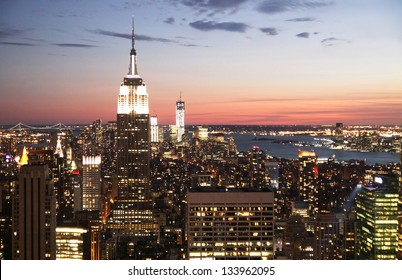 A panoramic view of the Manhattan skyscraper, New York City, USA