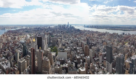 Panoramic view of Manhattan's South