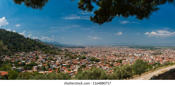 Panoramic view of Manisa city - Turkey