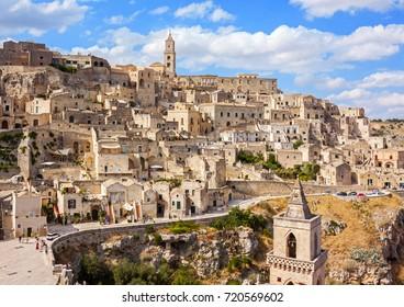 Panoramic view of Matera - italy