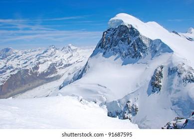 Panoramic view from Matterhorn, Zermatt, Switzerland