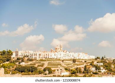 Panoramic view of the medieval center of Locorotondo