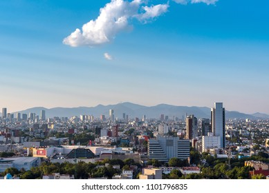 Panoramic view of Mexico City buildings