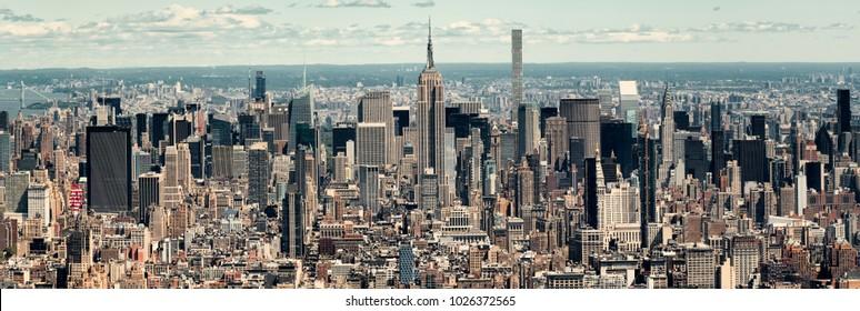 Panoramic view of midtown Manhattan in New York City