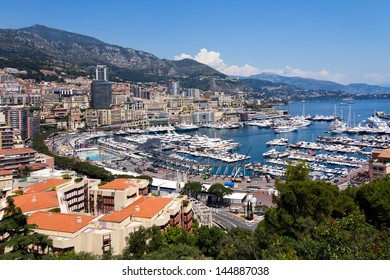 panoramic view of Monaco with the famous harbour