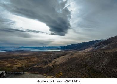 Panoramic view of Mono Lake