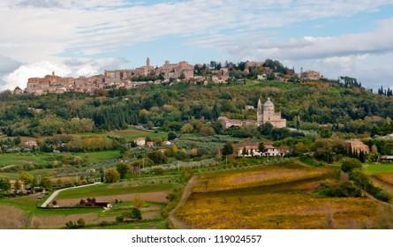 Panoramic view of Montepulciano, Tuscany
