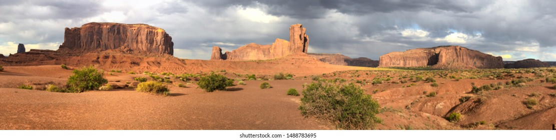 Panoramic view of Monument Valley National Park, USA.