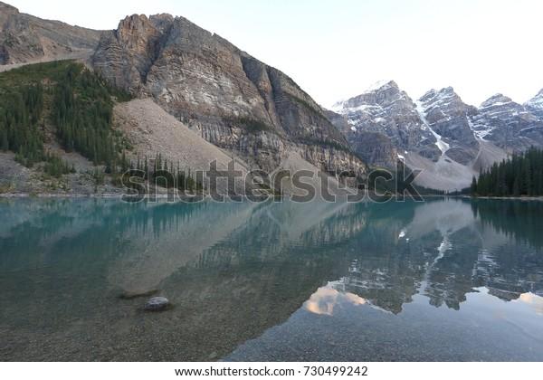 Panoramic View Moraine Lake Alberta Canada Stock Photo Edit
