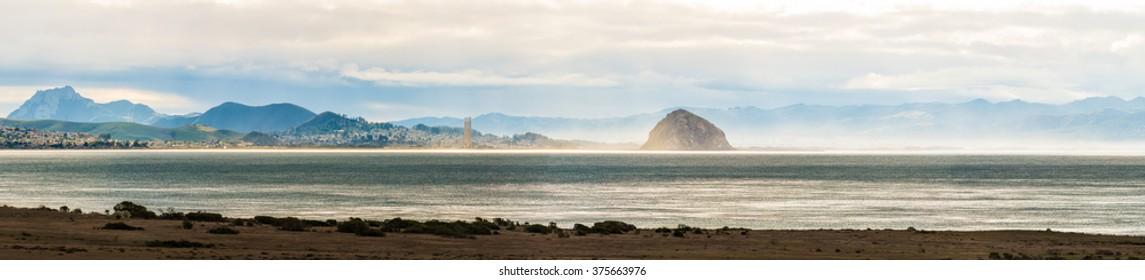 Panoramic view of Morro bay