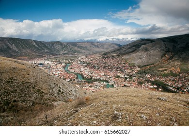 Panoramic view of Mostar