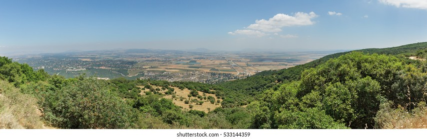 Panoramic view from Mount Carmel, Israel