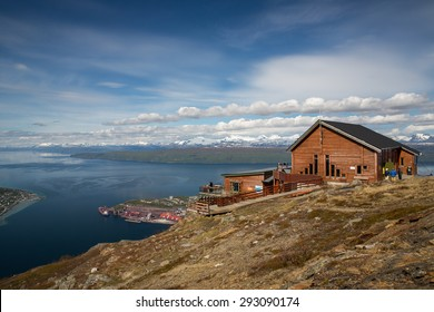 Panoramic view from a mountain near Narvik, Norway.