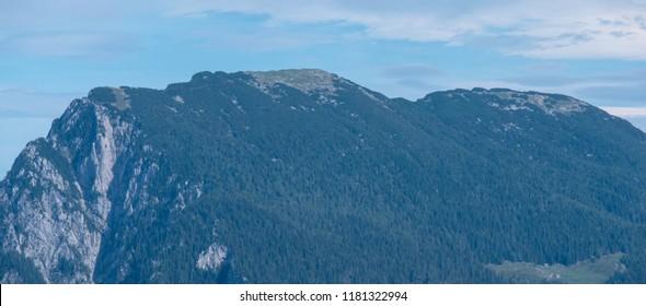 Panoramic view of mountain Raduha in Kamnik - Savinja Alps, Slovenia