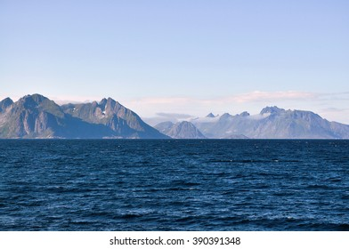 Panoramic view to the mountain ranges.