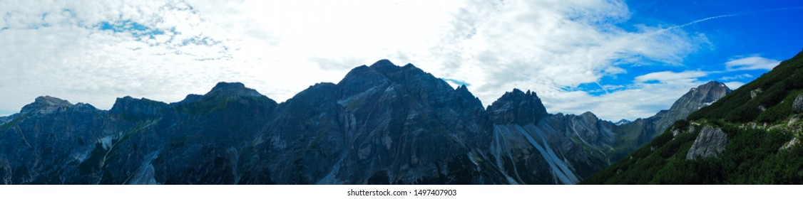 "Panoramic view from a mountain in Tirol called ""Elferkogel"""