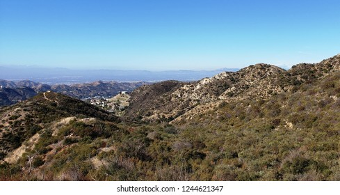Panoramic view of mountains near the San Fernando Valley, Los Angeles