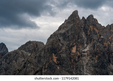 Panoramic view of a mountainside