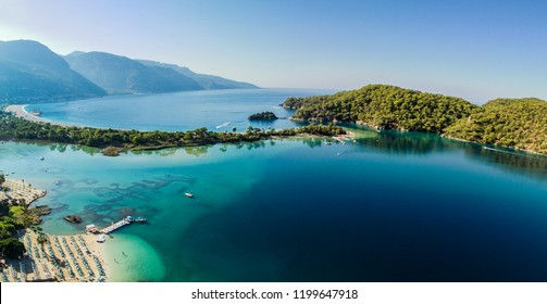Panoramic view of Mugla Fethiye Oludeniz ( Dead Sea ) Aerial Photo