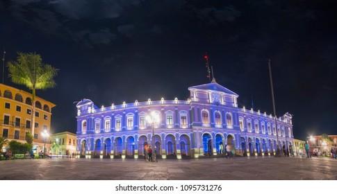 Panoramic view of the Municipal Palace in Cordoba, Veracruz